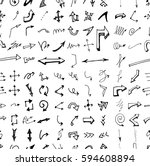 hand drawn doodle seamless... | Shutterstock .eps vector #594608894