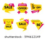 special offer sale tag discount ... | Shutterstock .eps vector #594612149