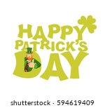 happy st.patrick 's day emblem