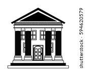 building roman columns icon | Shutterstock .eps vector #594620579