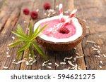berry smoothie | Shutterstock . vector #594621275