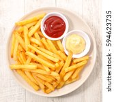 french fries | Shutterstock . vector #594623735