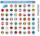 a set of icons with flags of... | Shutterstock . vector #59462560
