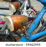 vintage rusty bicycle detail | Shutterstock . vector #59462995