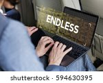 time unlimited infinity ability ... | Shutterstock . vector #594630395