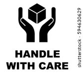 handle with care icon vector...   Shutterstock .eps vector #594630629