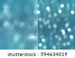 set 2 of blue abstract... | Shutterstock . vector #594634019
