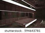 empty abstract room interior of ...   Shutterstock . vector #594643781