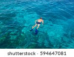 snorkeling at koh rok  andaman... | Shutterstock . vector #594647081