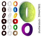 vector illustrated set of...   Shutterstock .eps vector #594647801