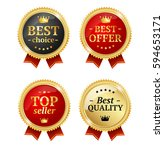best offer or choice sale label ... | Shutterstock .eps vector #594653171