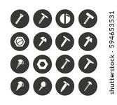 rivet  screw and bolt icon set... | Shutterstock .eps vector #594653531