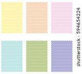 set of invitation cards. | Shutterstock . vector #594654224