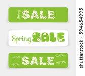 set of sale banners or website... | Shutterstock .eps vector #594654995