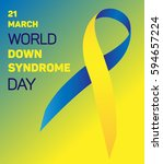 down syndrome ribbon. vector... | Shutterstock .eps vector #594657224