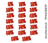 discount numbers 3d vector. red ... | Shutterstock .eps vector #594658859
