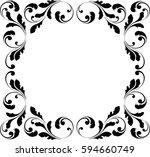 Decorative Frame. Floral Swirl...