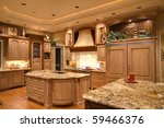 Stock photo kitchen in luxury home 59466376