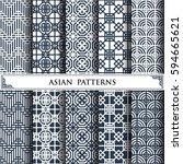 asian vector pattern pattern... | Shutterstock .eps vector #594665621