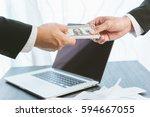 business concept  businessman... | Shutterstock . vector #594667055
