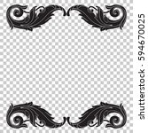 ornament in baroque style | Shutterstock .eps vector #594670025