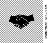 handshake icon vector.
