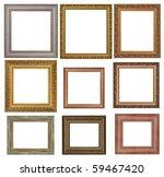 nine antique picture frames.... | Shutterstock . vector #59467420