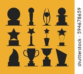 trophies cups and challenge... | Shutterstock .eps vector #594678659