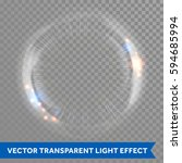 light lens flare vector effect... | Shutterstock .eps vector #594685994