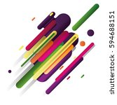 modern style abstraction with...   Shutterstock .eps vector #594688151