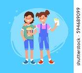 vector flat illustration of... | Shutterstock .eps vector #594689099