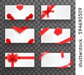 envelope greeting cards bows... | Shutterstock .eps vector #594690509