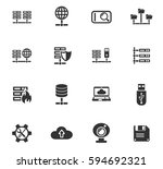 hosting provider web icons for... | Shutterstock .eps vector #594692321