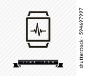 smart watch isolated minimal... | Shutterstock .eps vector #594697997