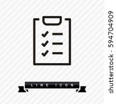 check list isolated minimal... | Shutterstock .eps vector #594704909