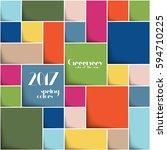 3d color squares. 2017 colors   Shutterstock .eps vector #594710225