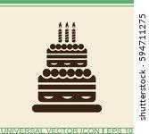 Cake Vector Icon.