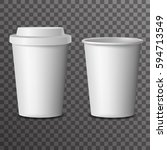 coffee takeaway cup cover 3d... | Shutterstock .eps vector #594713549