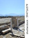 Small photo of Laodicea - ancient Roman city ruins in western Turkey