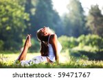 yoga woman | Shutterstock . vector #59471767