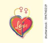gender diversity concept.... | Shutterstock .eps vector #594740219