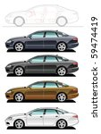 illustration of sedan.  simple... | Shutterstock .eps vector #59474419