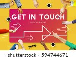 get in touch contact inquiry... | Shutterstock . vector #594744671