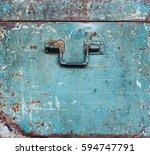 Green Vintage Steel Rust Box...