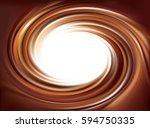 soft mixed dark mahogany curvy... | Shutterstock .eps vector #594750335