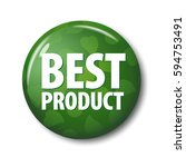 bright green round button with... | Shutterstock .eps vector #594753491