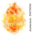 watercolor imitation happy... | Shutterstock .eps vector #594759545