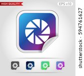 shutter icon. button with... | Shutterstock .eps vector #594761627