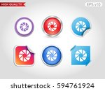 shutter icon. button with...