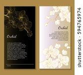 vector modern floral pattern... | Shutterstock .eps vector #594765974